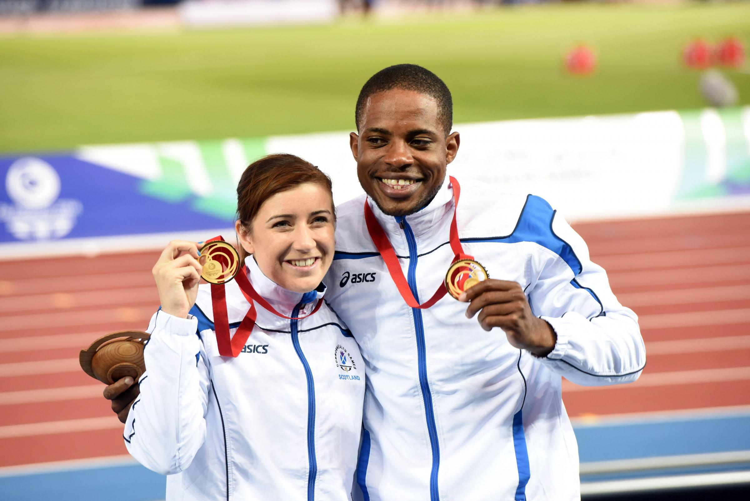 Libby Clegg with her guide